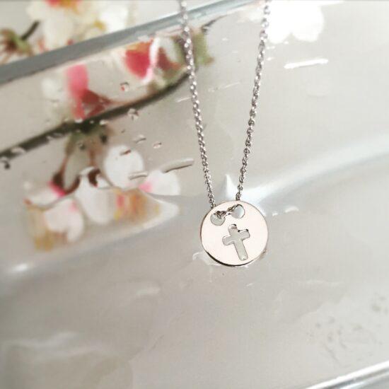 Colier Cruciulita, Argint 925 Rodiat