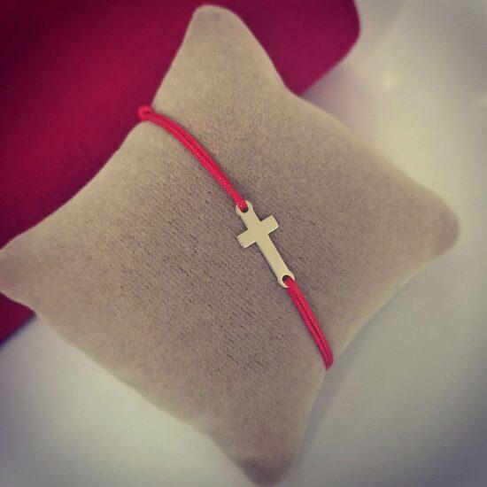Bratara cruce aur