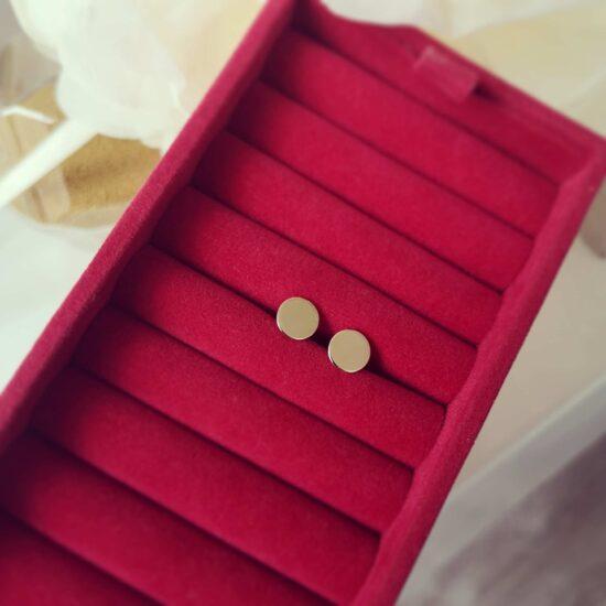 Cercei din aur banuti