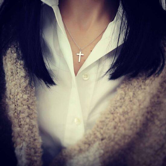 Colier Cruciulita Argint