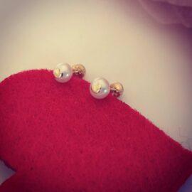Cercei inimi si perle