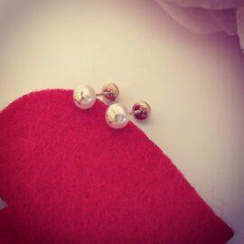 Cercei stele si perle