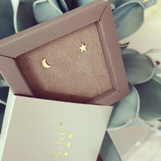 Cercei Luna Stea Aur