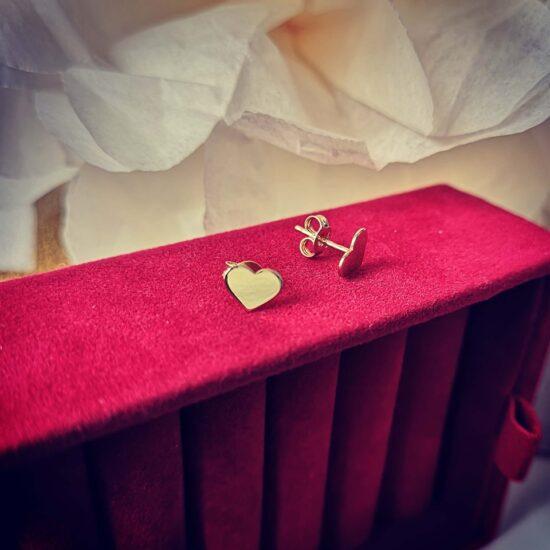 Cercei inimi aur