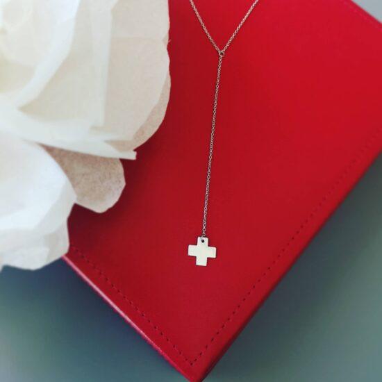Colier cruce Argint