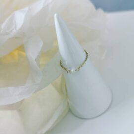Inel lant perla naturala